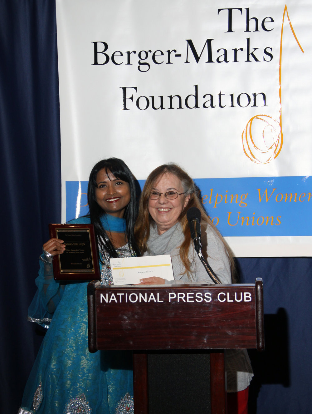 Award from Berger-Marks Foundation