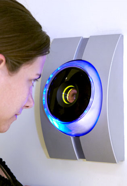 Sapphire for biometric (iris scanning) systems