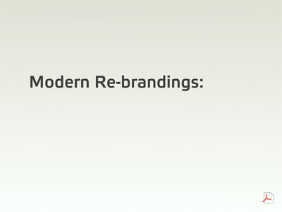 Modern Re-Branding