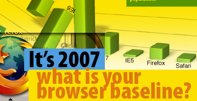 It's 2007 what is your browser baseline?