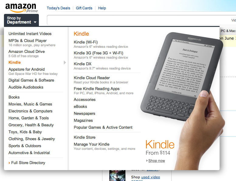 Amazon com redesign: clean, modern design = tablet? — Jeremy