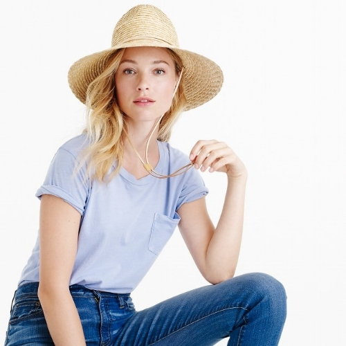 J Crew Wide-brim hat with leather trim, $39.99 USD