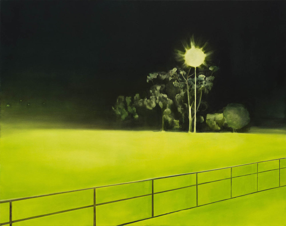 Limelight. 2018, oil on canvas, 113 x 142cm. Photograph courtesy of Graham Mathwin.  Exhibited as part of   Relay     at Midland Junction Arts Centre and   Contested Spaces 1     at John Curtin Gallery.