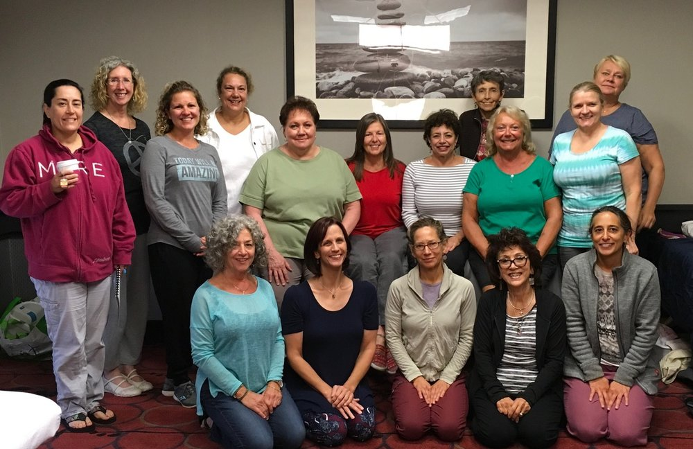 Attendees at Karen Ball's Chronic Foot Pain Workshop