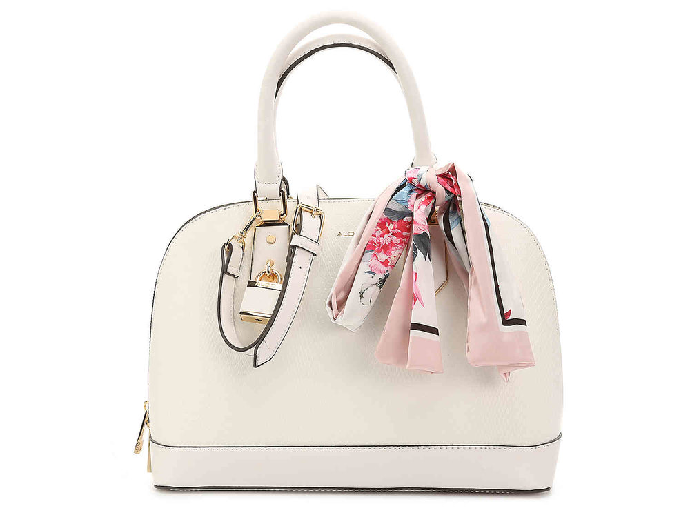 Aldo White Satchel