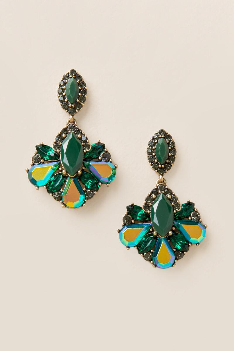 Party Facet Statement Earrings