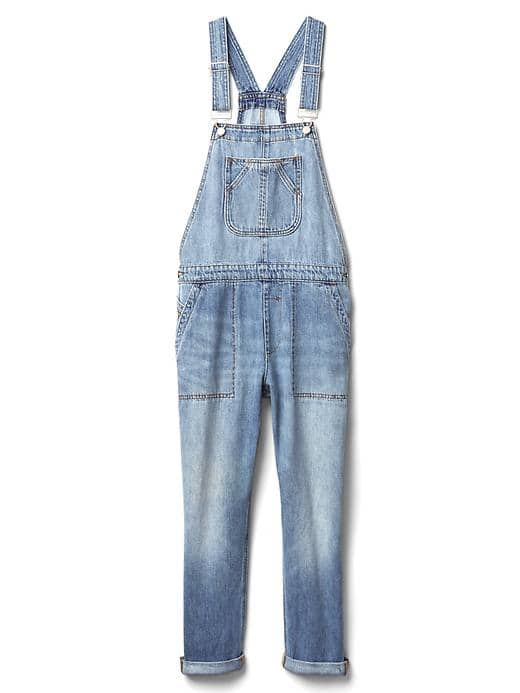 Slouchy Crop Overalls