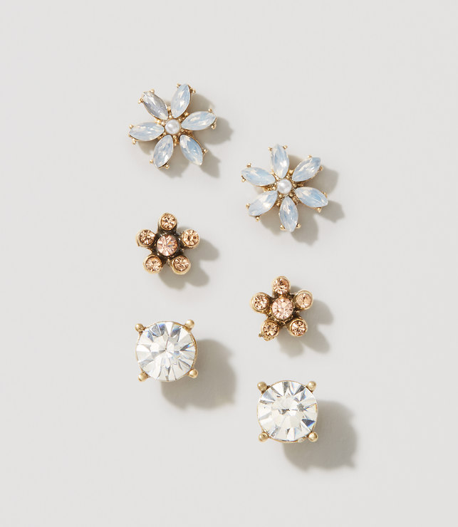Floral Stud Earring Set