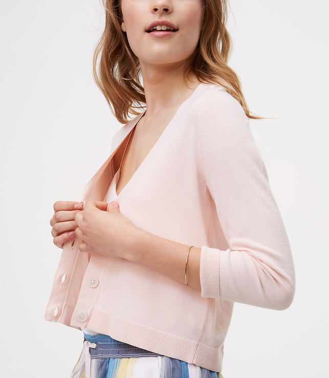 Cropped Blush Cardigan