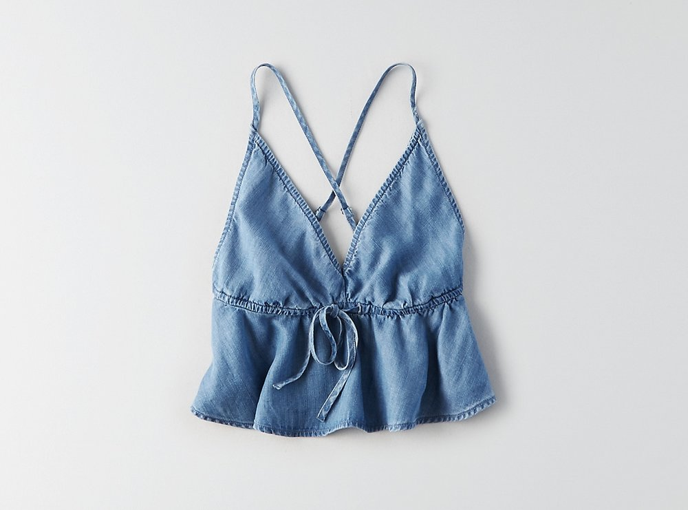 Chambray Crop Top
