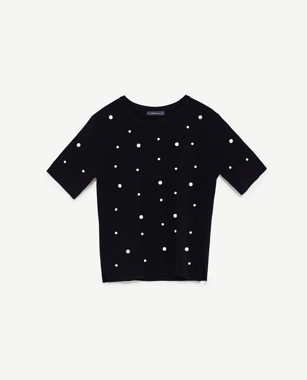 Black Pearl Studded Top