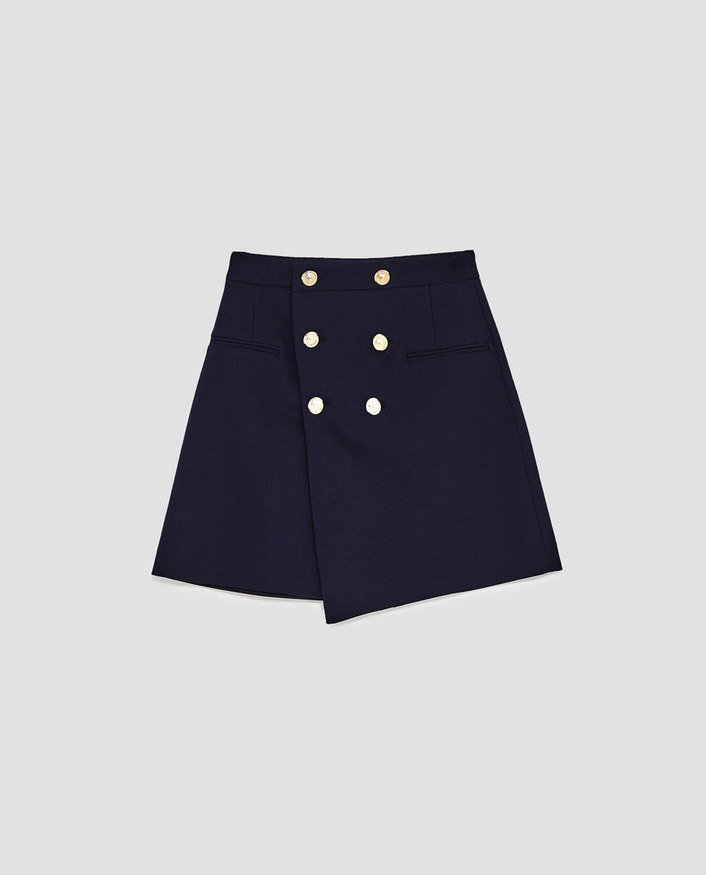 Skirt With Gold Buttons