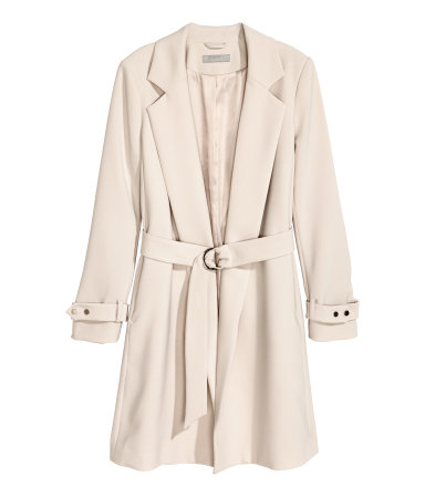 Light Taupe Trench Coat