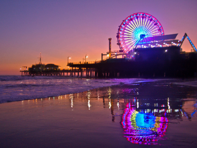 Santa Monica Pier  - If you love the beach like I do then Santa Monica is the perfect Saturday hangout. It has amusement park attractions, the sandy beach, and the prettiest sunset backdrops. I think it's the perfect location for a fun day at the beach for your friends or babe!