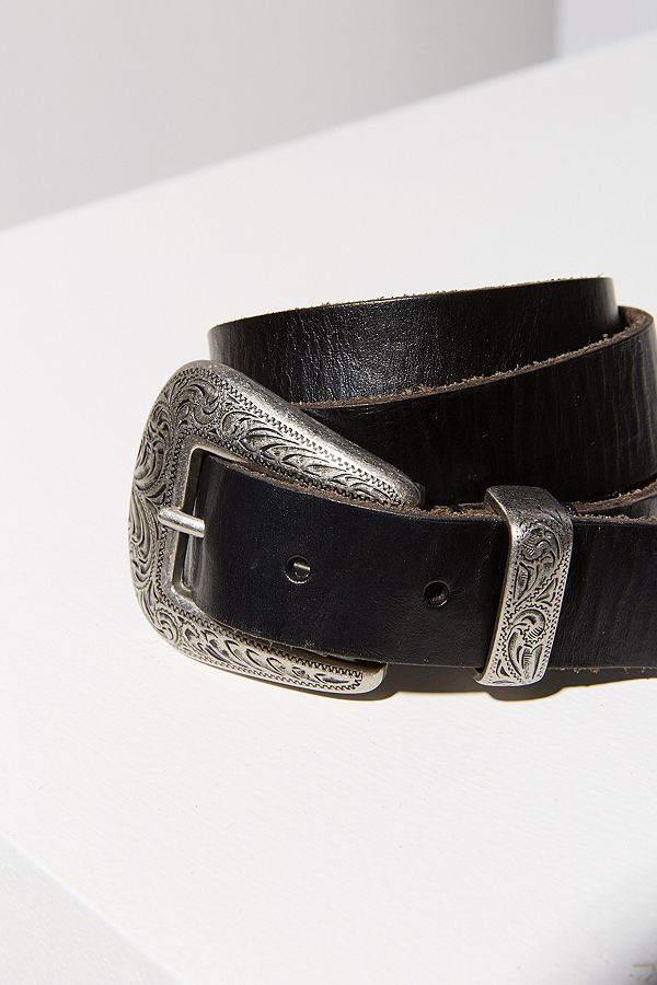 Metal Tipped Leather Belt