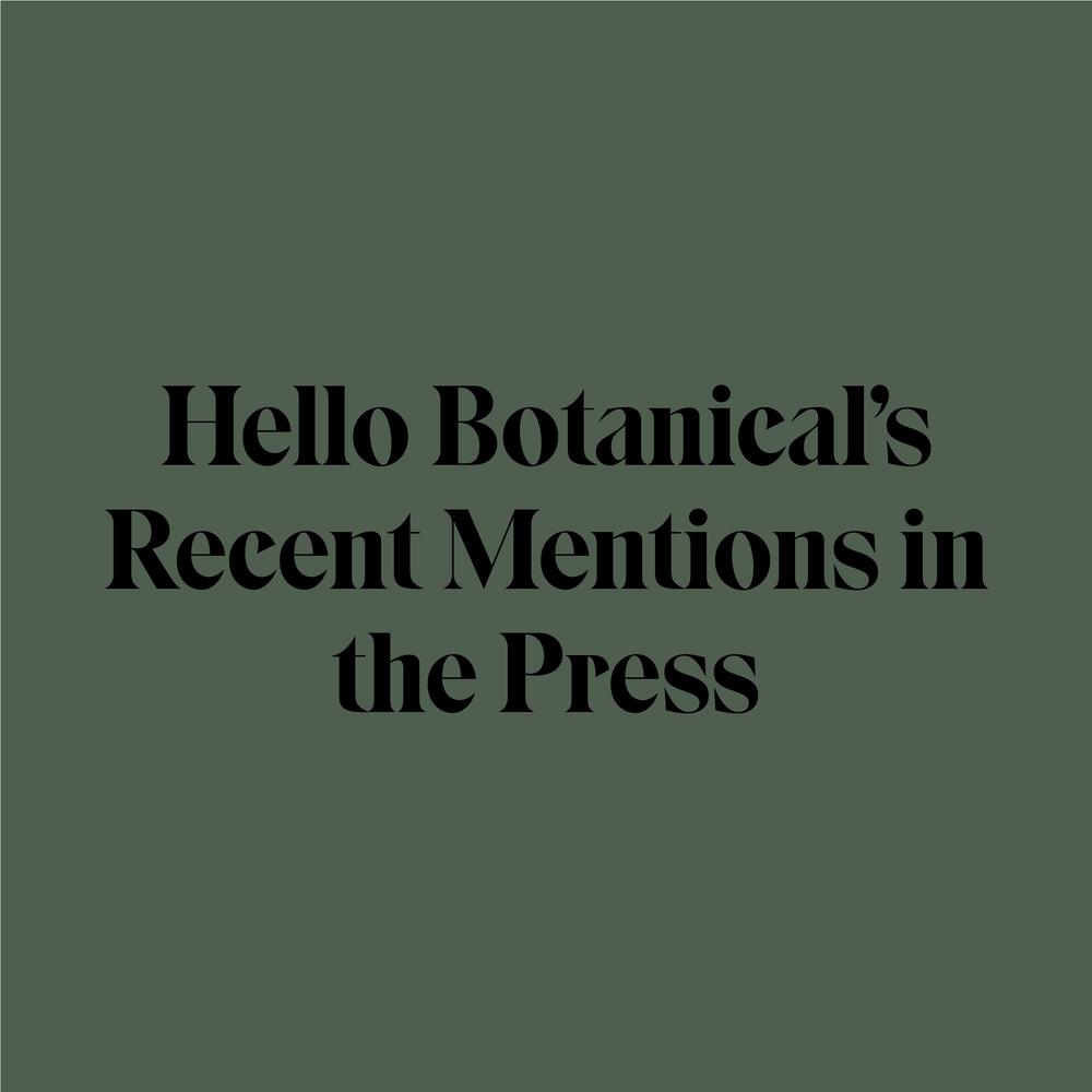 Hello Botanical Melbourne in the press