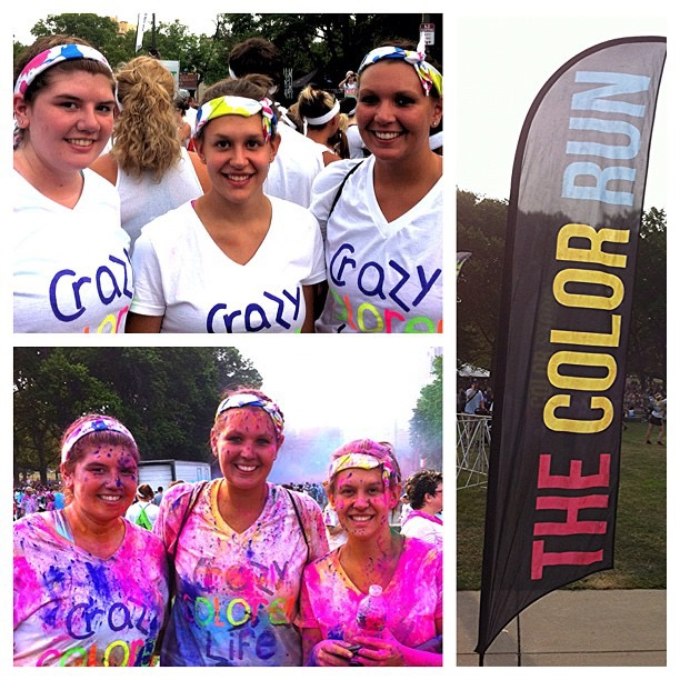 The Color Run 5k with one of my best friends, Alyssa. July 2012 - Philadelphia