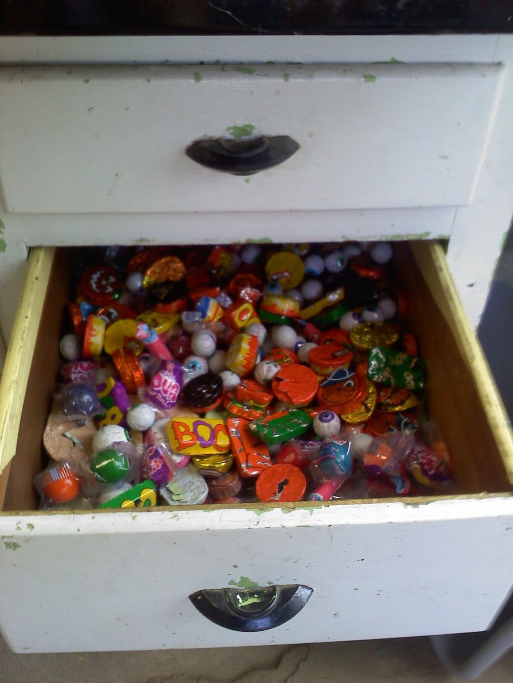 The candy drawer that Joyce would stock up for nice children who'd come in to shop. I swear I acquired my sweet tooth on this little place of heaven.
