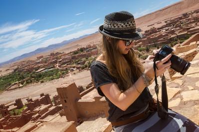 Morocco Ait Ben Haddou Female Traveller Camera - Oana Dragan 0W3A0576 Lg RGB.jpg