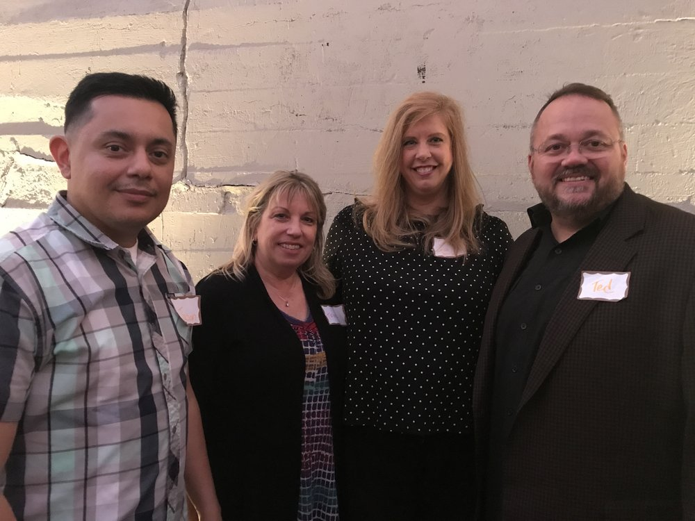 LEFT TO RIGHT: Jason, Treasurer and Teresa, Secretary and Candi, President and Ted, Vice-President