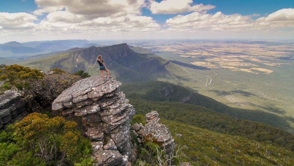 Views over the Grampians from Mount William