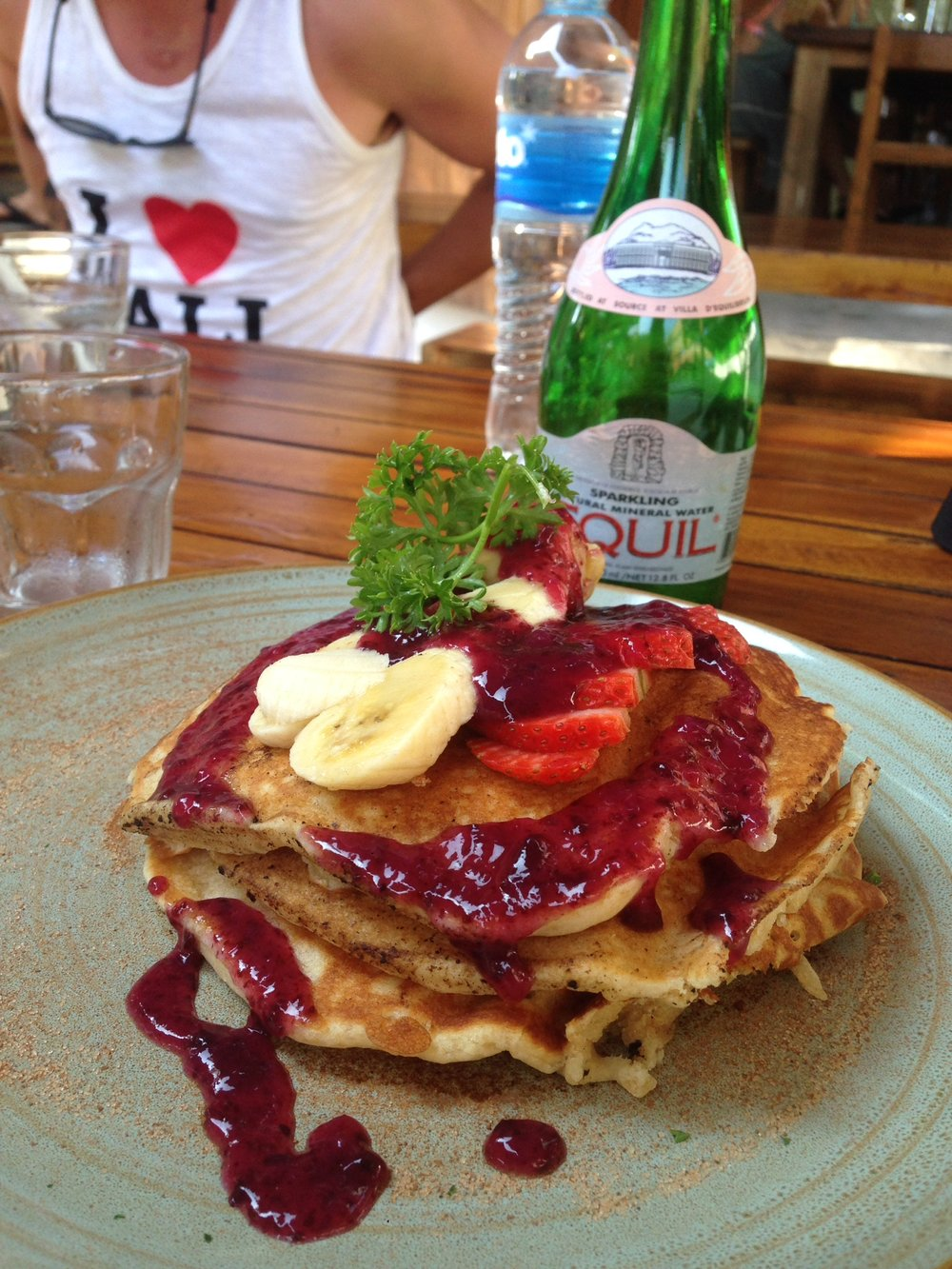 Strawberry Pancakes @ Bukit Cafe