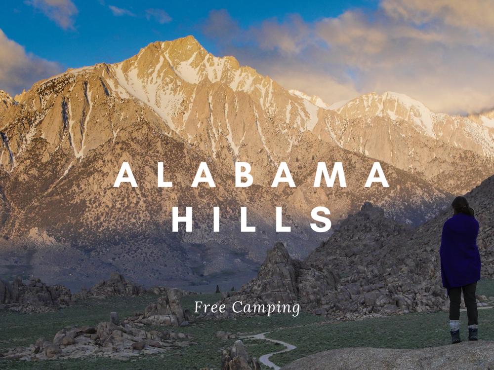 Camping rock climbing hiking Alabama Hills BLM