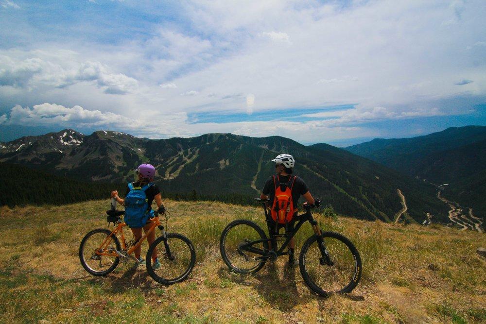 Northside Mountain Bike trails Taos Ski VAlley