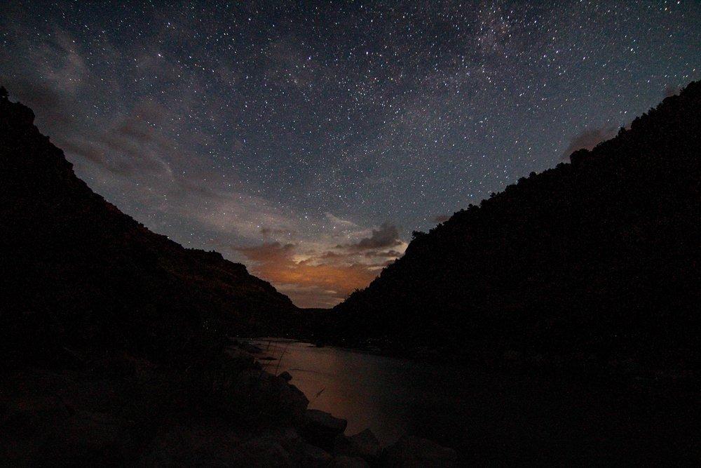 John Dunn Hot Springs at night