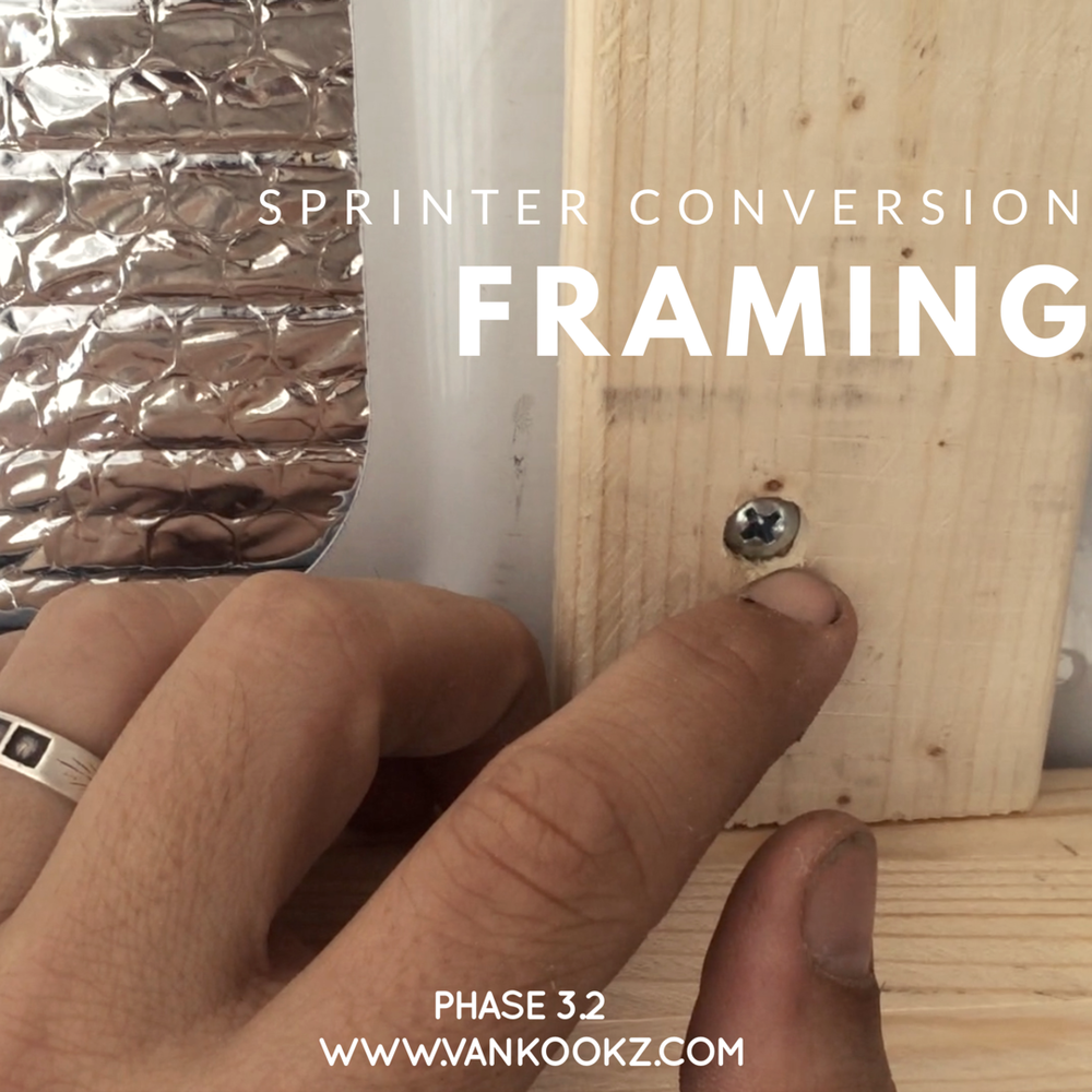 Framing out Your Sprinter - Phase 3.2 - Here, we talk about framing out your Sprinter to get it ready to build out. Reduce the rattling by reducing the amount of screws going into the metal.
