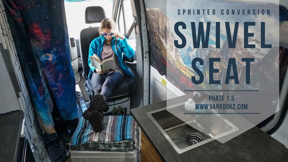 Swivel Seat in your Sprinter Van is Mandatory. - This is the best seat in the house. Besides the fact that this seat acts as a front row to the movie screen of our lives, it also swivels around to add more seating in the back when we are kickin' it.