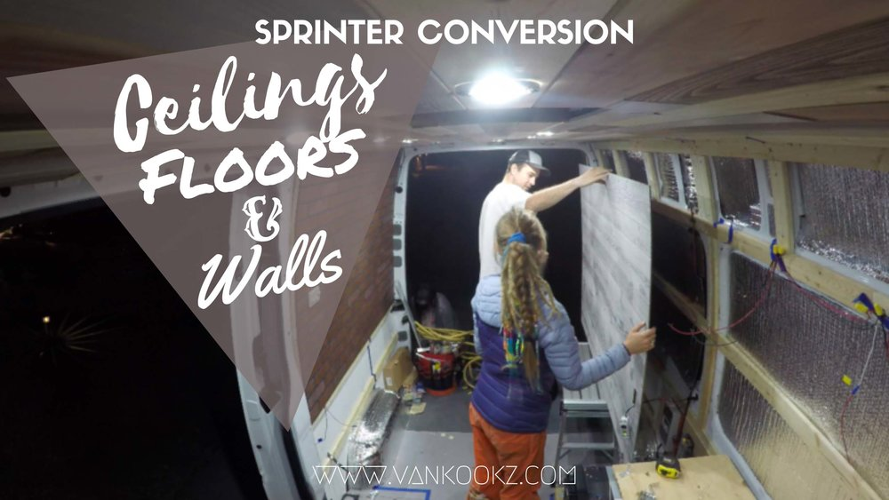 Ceiling, Floors & Walls - If you learn better from videos than reading, watch our video compilation of how we did all three.