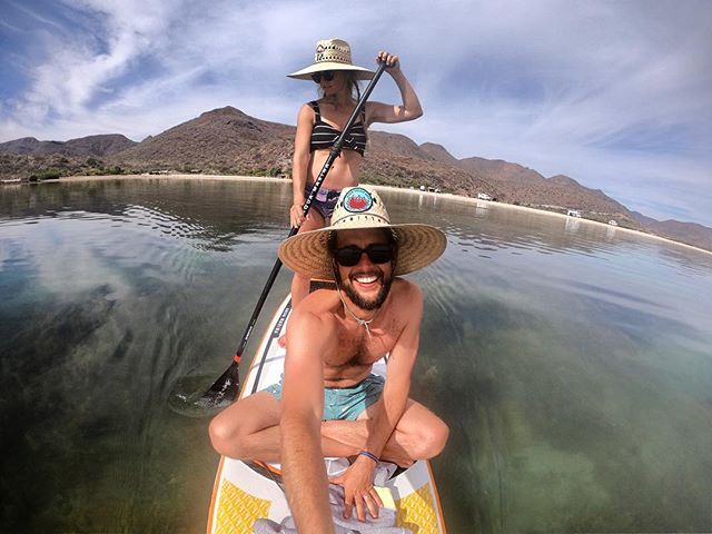 The kookz love Baja!  So far we've been blown away by the beauty of this peninsula.  We ain't leaving!  Also we are stoked the two of us can fit on this @aquamarinaglobal Magma Inflatable SUP.  It looks like we will need to get another board though because we find ourselves fighting over it every time it's time to paddle out.  #vanlife #bajacalifornia