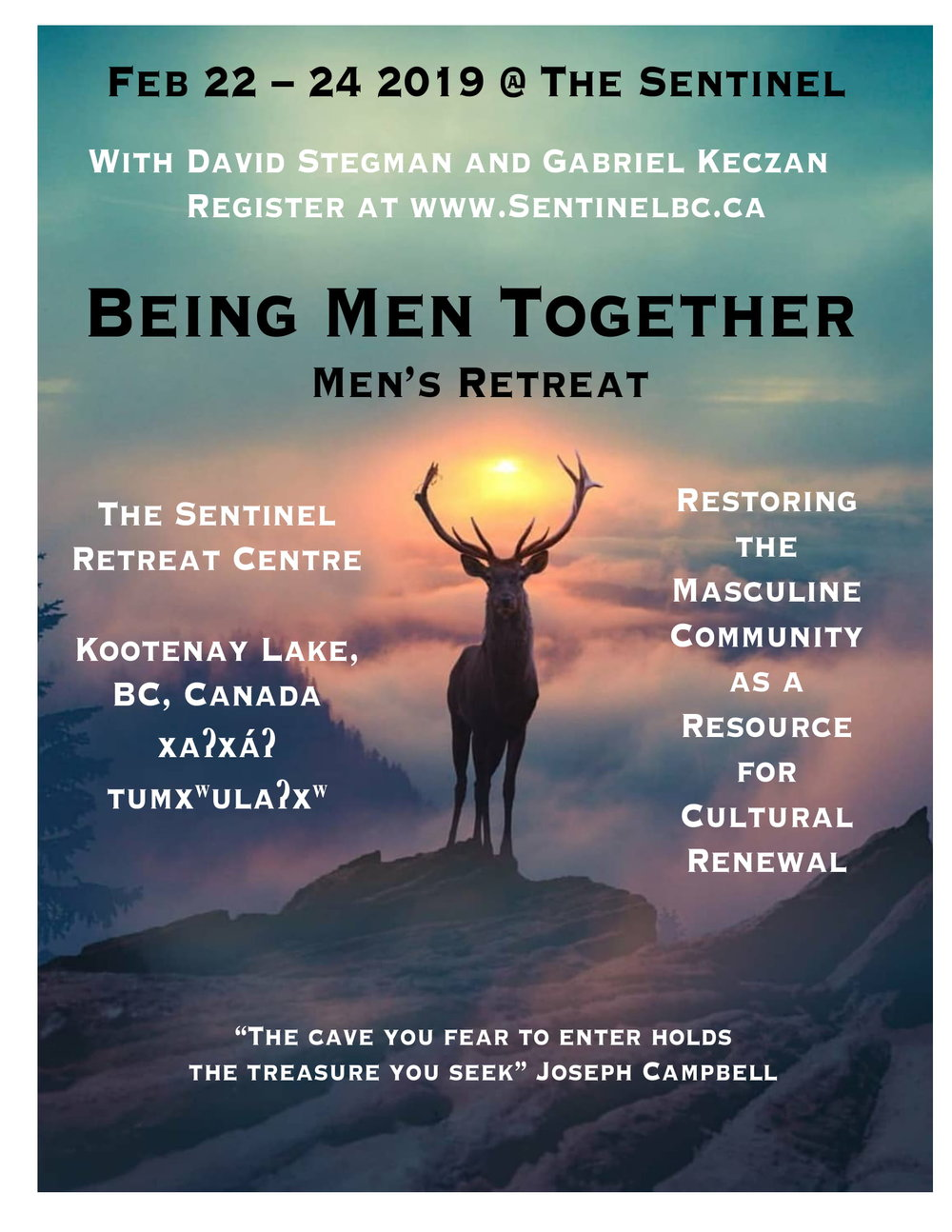 Being Men Together Elk Sunset Poster.jpg