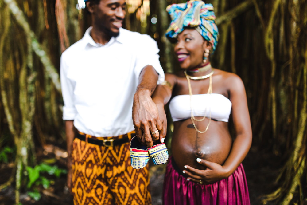 Maternity Portrait Of An African Black Couple Expectinga Baby Boy The Image Was Taken