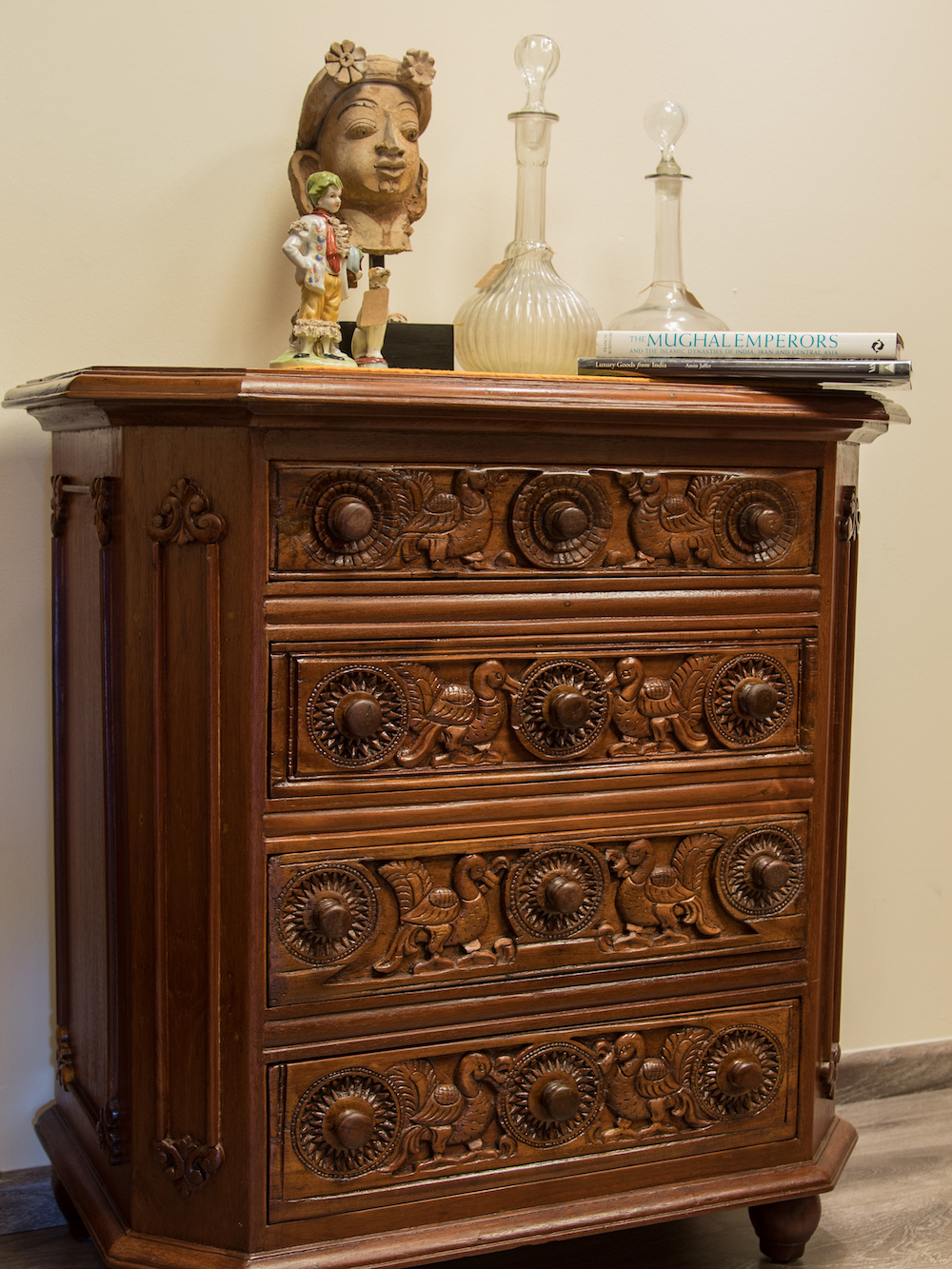 Ethnic Teakwood Chest of Drawers.JPG