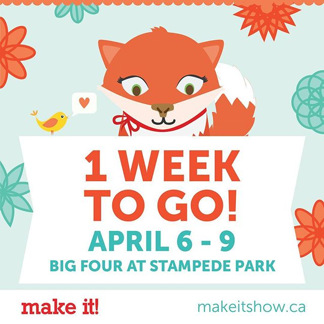 1 week to go!! Looking forward to seeing everyone in Calgary 💕 PS- could you please catch up to spring so I can drive from Vancouver as planned?😅🚗