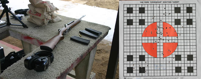 The Mini-14 gave minute-of-man accuracy at 50 yards with irons