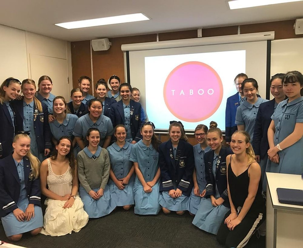 TABOO-ing will the Year 12 business class at Walkforn Anglican School for Girls #didntconfusethemforstudents