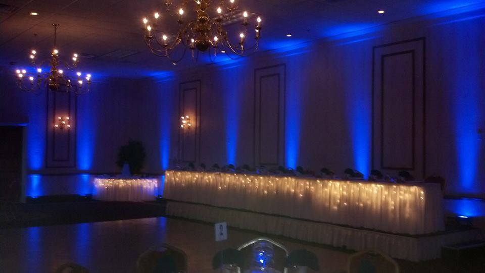 Full-Room Blue Uplighting at The Hyatt Regency in Buffalo, New York