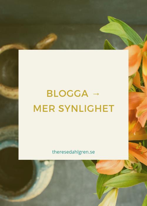 Blogga för mer synlighet