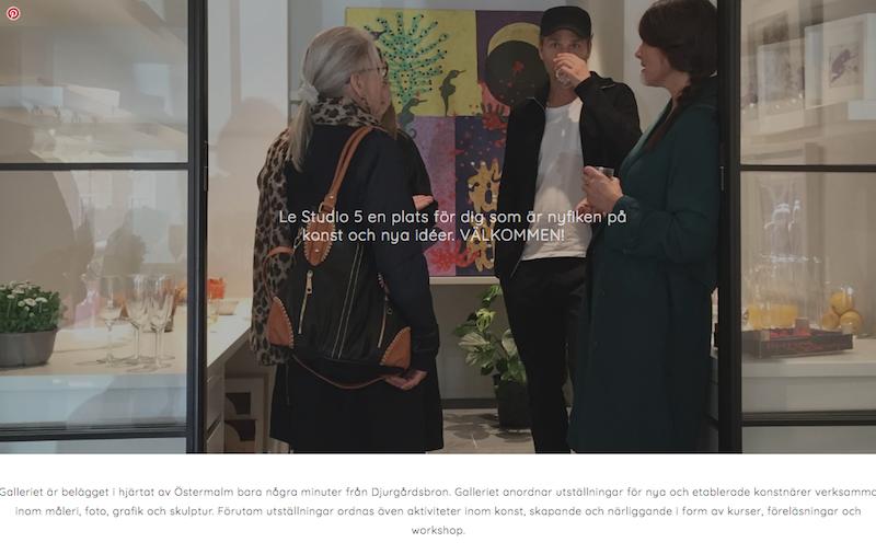 Le Studio 5 galleri - Stockholm