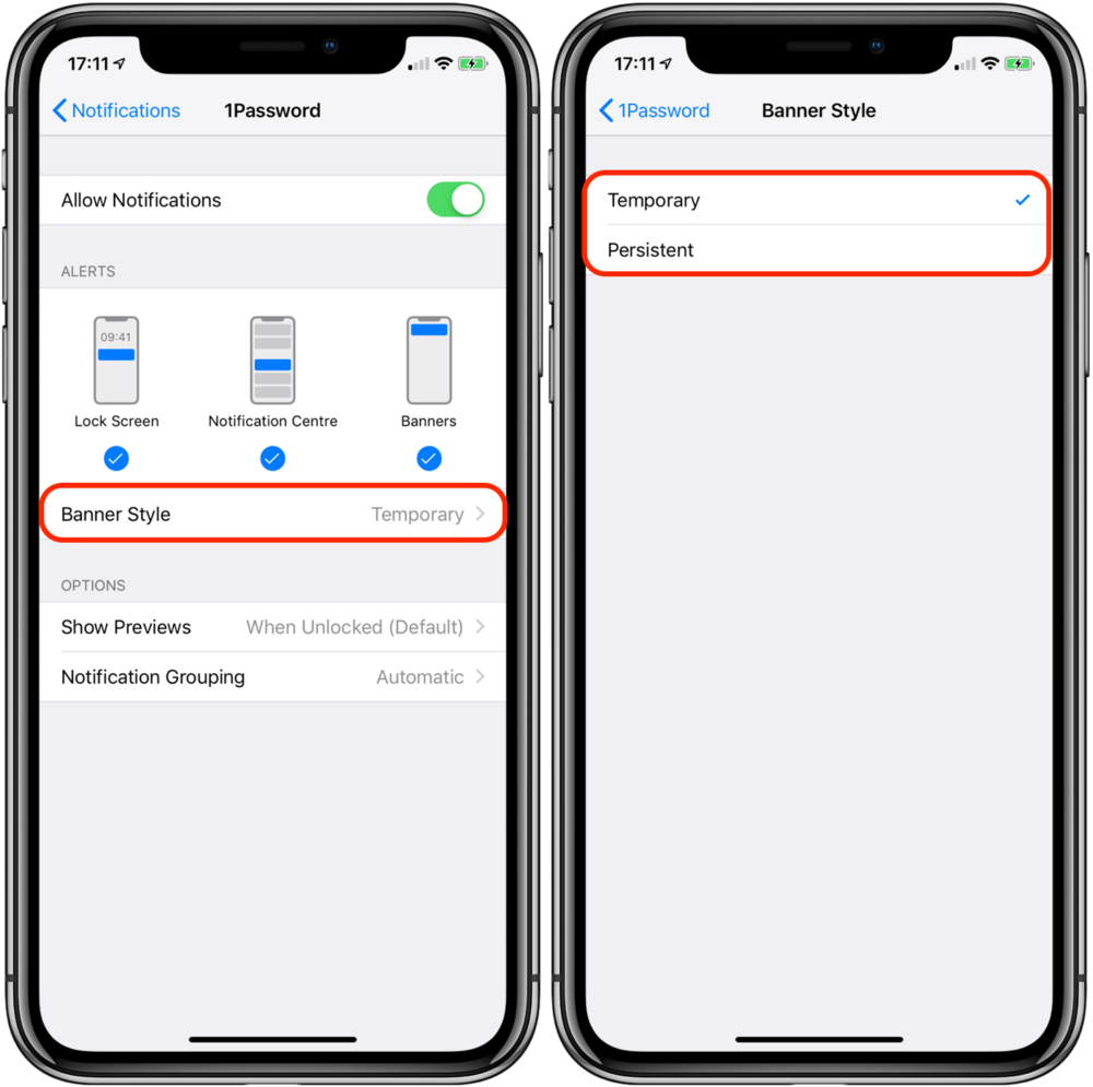 MP09 - iOS 12 - iPhone X - Configure Notifications - Alert types Annotated 800px.png