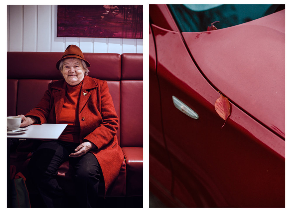Amalia / Red Car, Red Leaf