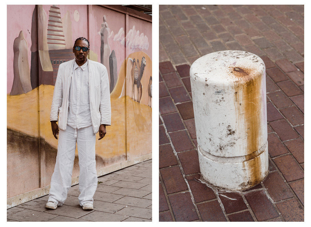 Tony / White Bollard Installation