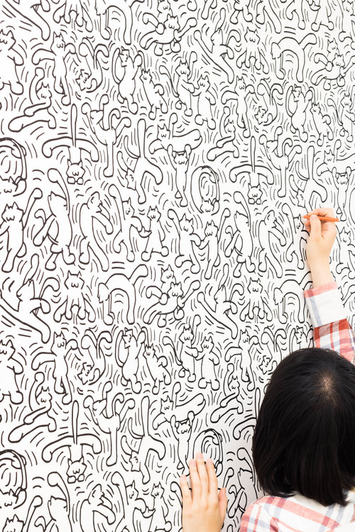 Dancing Cats Coloring Wallpaper