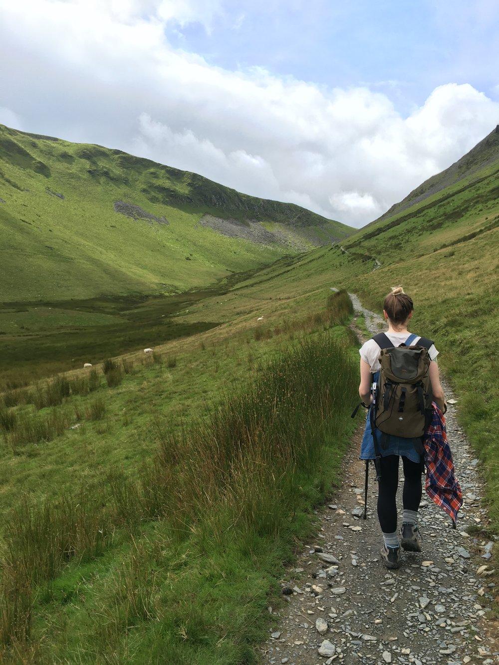 Walking through Maesgwm