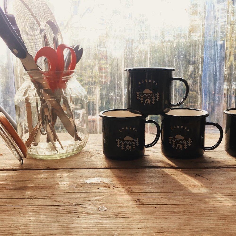 On brand mugs are on hand!