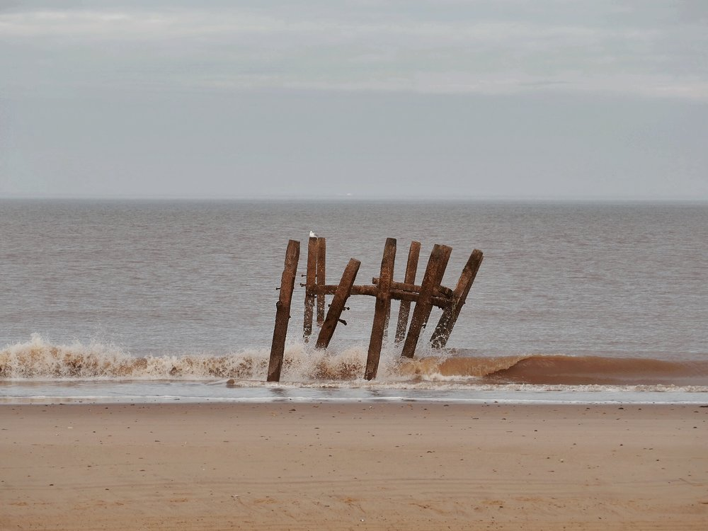 Nothing much left of this groyne.