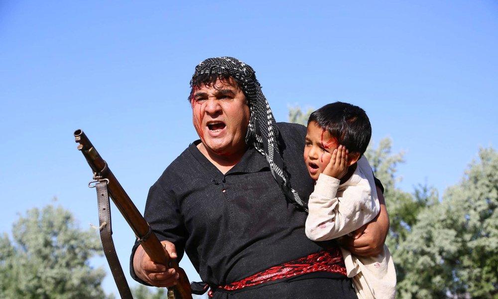 Salim Shaheen in einem seiner Actionfilme